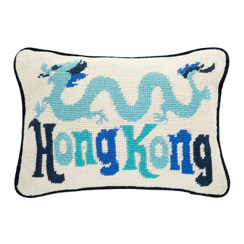 Jet Set Hong Kong Cushion