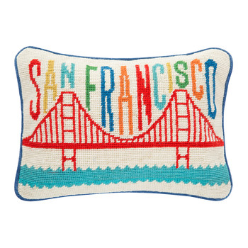 Jet Set San Francisco Pillow