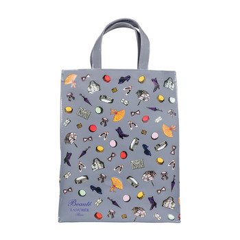 Grey Small Accessories Shopping Bag
