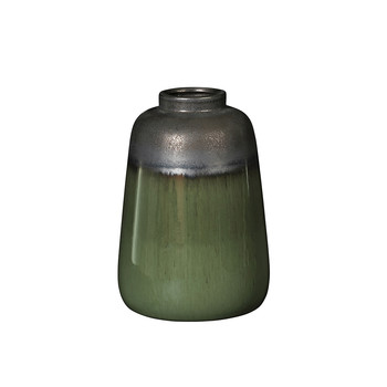 Laust Curve Vase - Gray/Green