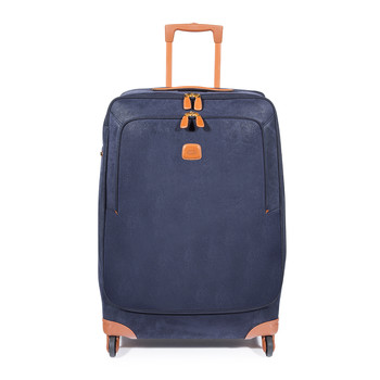 Life Trolley Suitcase - Blue/Tan