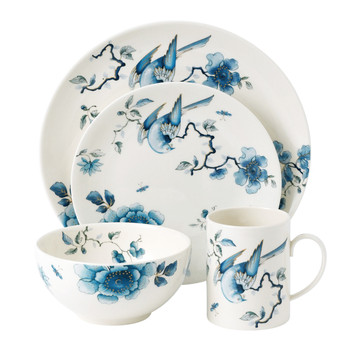 Blue Bird Tableware Set - 16 Piece