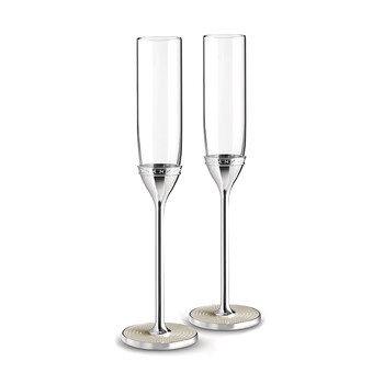 With Love Pearl Toasting Flutes - Set of 2
