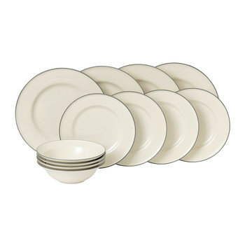Gordon Ramsay Union Street Tableware Set - 12 Piece - Cream