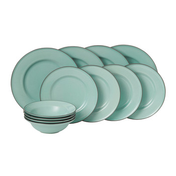 Gordon Ramsay Union Street Tableware Set - 12 Piece - Blue