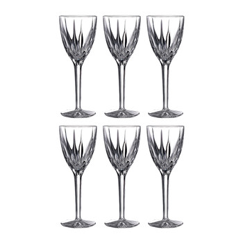 Flame Wine Glasses - Set of 6