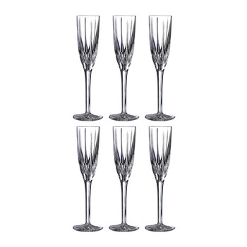 Flame Champagne Flutes - Set of 6