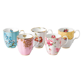 100 Years Mug Set - 5 Piece - 1950-1990