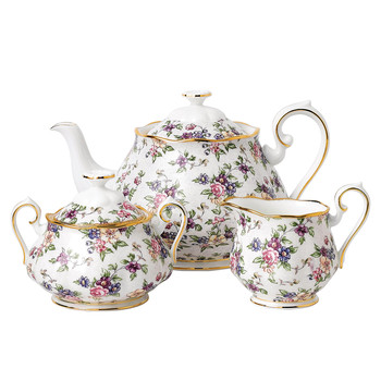 100 Years Tea Set - 3 Piece - 1940 English Chintz