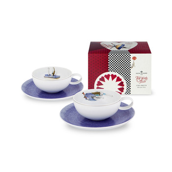 Tea with Alice Teacups, Saucers and Teabags Set
