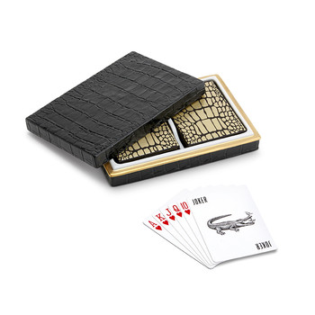 Black Croc Playing Cards - Set of 2