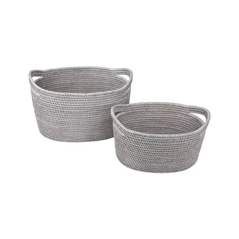 Vienna Baskets - Set of 2 - White