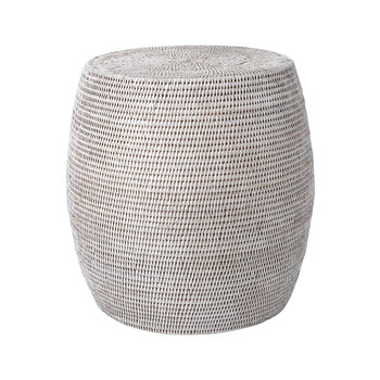Drum Stool - White