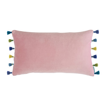 Blush Velvet Tassel Cushion - 30x50cm