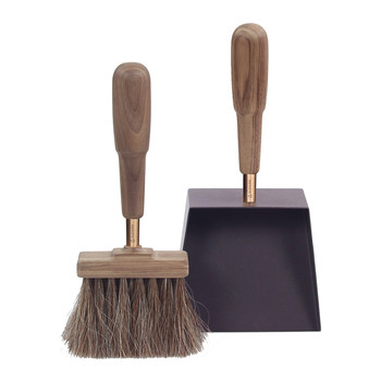 Shovel & Brush Set - Walnut