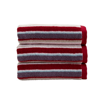 Portobello Stripe Towel - Pale Pink
