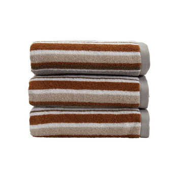 Portobello Stripe Towel - Pebble