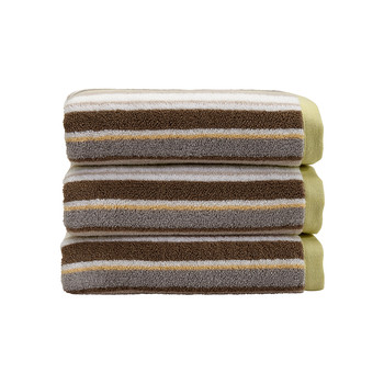Portobello Stripe Towel - Lime