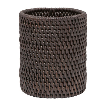 Dalton Rattan Toothbrush Holder - Coffee