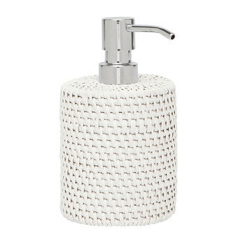 Dalton Rattan Soap Pump - White