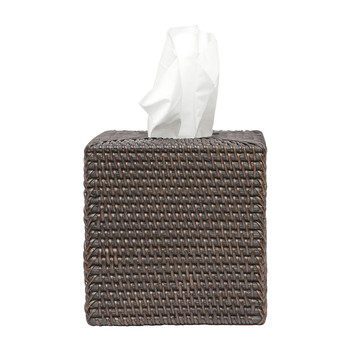 Dalton Rattan Tissue Box - Coffee