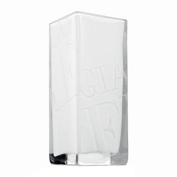 Duke Logo Vase - White