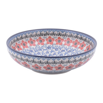 Serving Bowl - Red Violets