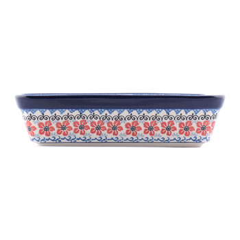 Rectangular Oven Dish - Red Violets