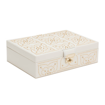 Marrakesh Flat Jewellery Box - Cream
