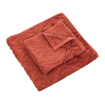Pecos Sculpted Towel - Cayenne