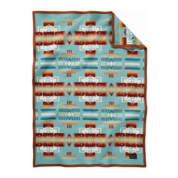 Chief Joseph Children's Blanket - Aqua