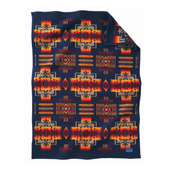Chief Joseph Children's Blanket - Indigo