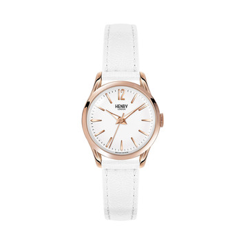 Pimlico White Leather Strap Watch