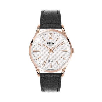 Richmond Black Leather Strap Watch