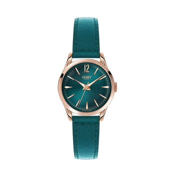 Stratford Teal Leather Strap Watch