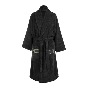 Gold Shawl Bathrobe - Black