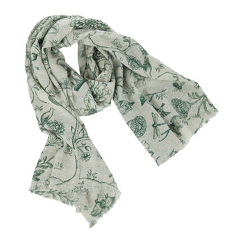 2 Tone Spring to Life Scarf - Green