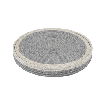 Round Placemats Set of 6 - Grey/Cream