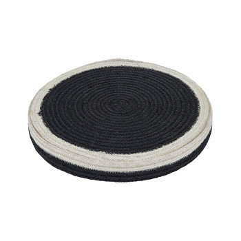 Round Placemats Set of 6 - Black/White