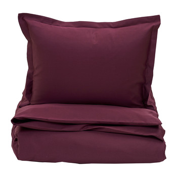Sateen Duvet Cover - Purple Fig