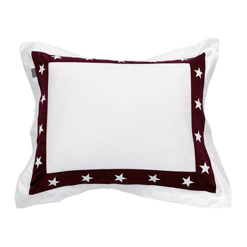 Star Border Pillowcase - Purple Fig