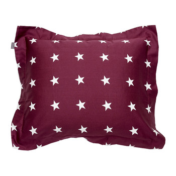 Allover Star Pillowcase - Purple Fig