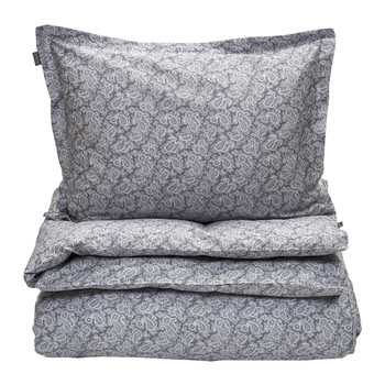 Ash Paisley Duvet Set - Double - Elephant Grey