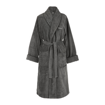 Premium Velour Bathrobe - Anthracite