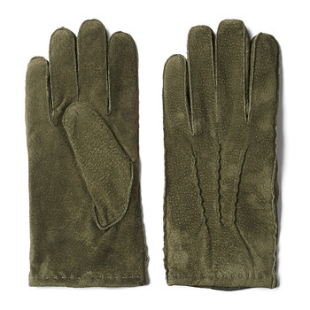 Classic Men's Suede Gloves - Moss Green