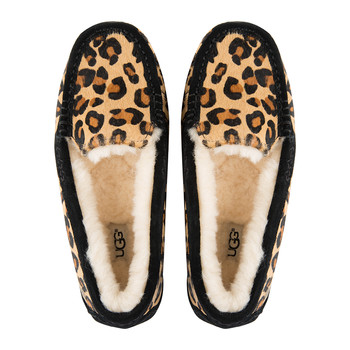 Women's Ansley Calf Hair Slippers - Chestnut Leopard