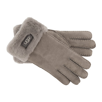 Women's Turn Cuff Gloves - Stormy Grey