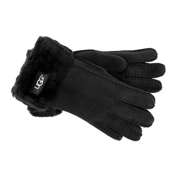 Women's Turn Cuff Gloves - Black