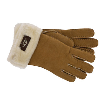 Women's Turn Cuff Gloves - Chestnut