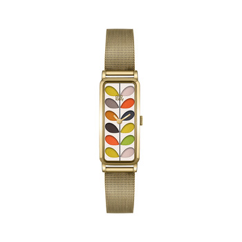 Stem Mesh Strap Watch - Gold